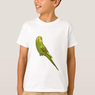 Grünes und gelbes budgie T-Shirt