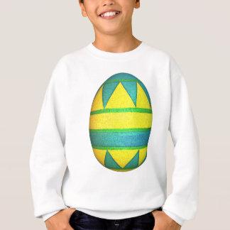 Grünes und gelbes gefärbtes Dreieck-Osterei Sweatshirt