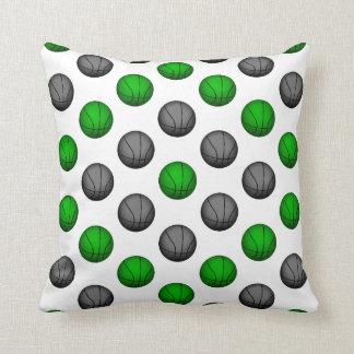 Grünes und graues Basketball-Muster Kissen
