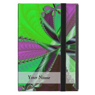 Grünes und lila Fraktalmuster iPad Mini Schutzhüllen