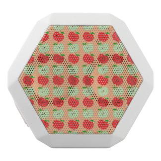 Grünes und rotes Apfel-Muster Weiße Bluetooth Lautsprecher