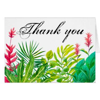 Grünes und rotes Blätter dankt Ihnen kleines Karte