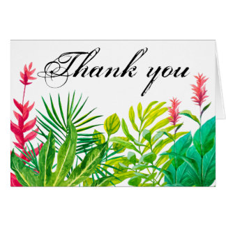 Grünes und rotes Blätter dankt Ihnen kleines Mitteilungskarte