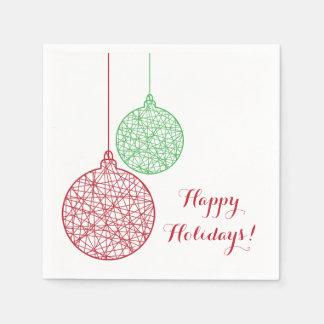 Grünes und rotes Weihnachten verziert Serviette