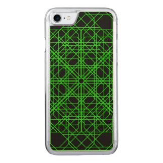 Grünes und schwarzes geometrisches abstraktes carved iPhone 8/7 hülle