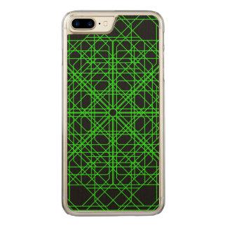 Grünes und schwarzes geometrisches abstraktes carved iPhone 8 plus/7 plus hülle