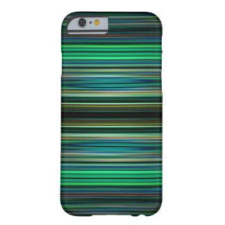 Grünes und schwarzes gestreiftes Muster Barely There iPhone 6 Hülle