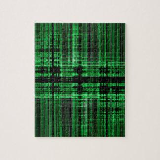 Grünes und schwarzes Matrixmuster Puzzle
