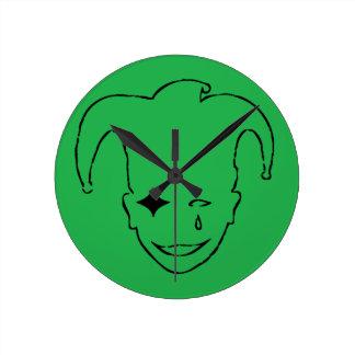 Grünes und schwarzes MTJ Runde Wanduhr