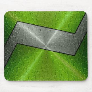 Grünes und silbernes Edelstahl-Metall 2 Mauspads