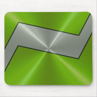 Grünes und silbernes Edelstahl-Metall Mauspad