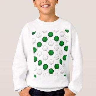 Grünes und weißes Basketball-Muster Sweatshirt