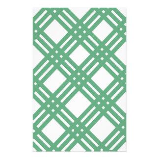 Grünes und weißes Gitter Briefpapier
