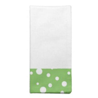 Grünes und weißes Polka-Punkt-Servietten-Set Serviette