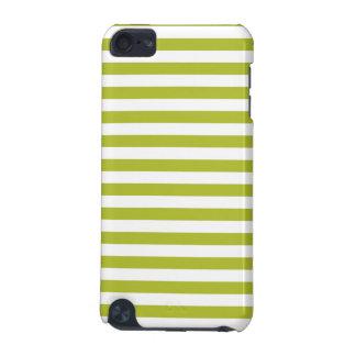 Grünes und weißes Streifen-Muster iPod Touch 5G Hülle