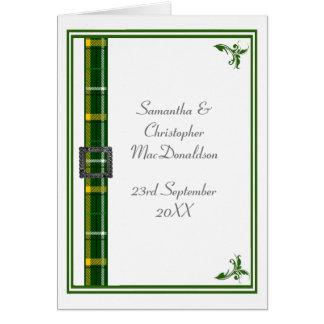 Grünes und weißes Tartanband Karte
