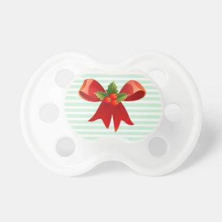 Grünes und weißes Weihnachtsbogen-Baby-Schnuller Schnuller