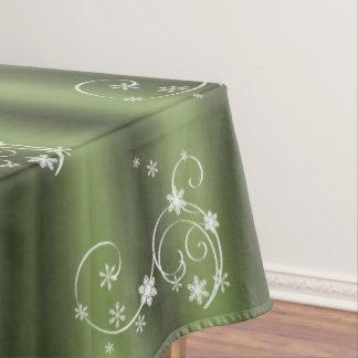 Grünes und weißes Wirbels-Weihnachten Tischdecke