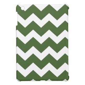 Grünes und weißes Zickzack Zickzackmuster iPad Mini Hülle
