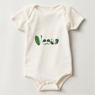 Grünes veganes Blätter Baby Strampler