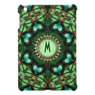 Grünes Waldmagisches Liebe-Monogramm iPad Minifall iPad Mini Hülle