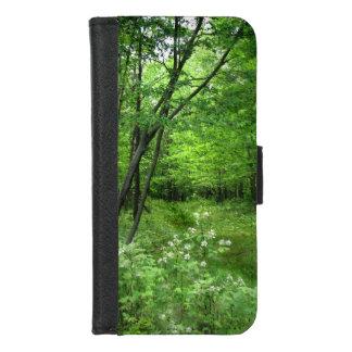 Grünes Waldnatur-Wanderung iPhone 8/7 iPhone 8/7 Geldbeutel-Hülle