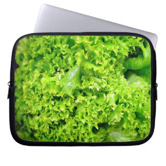 Grünes Wasserkulturkopfsalat-Blätter Computer Sleeve Schutzhülle