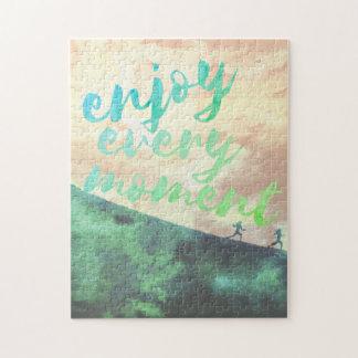Grünes Watercolor-Joggen-Laufen Inspirational Puzzle