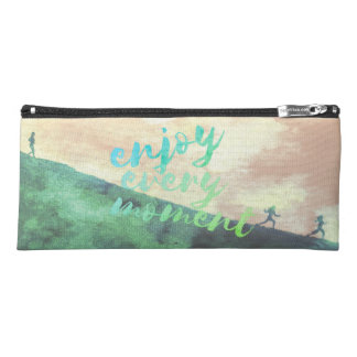 Grünes Watercolor-Joggen-Laufen Inspirational Stiftetasche