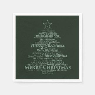 grünes Weihnachten Baum der Papierservietten