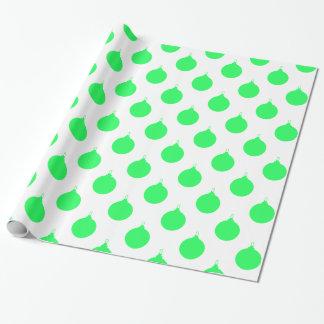Grünes Weihnachtsball-Muster Geschenkpapier