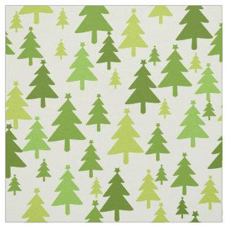Grünes Weihnachtsbäume Gewebe Stoff
