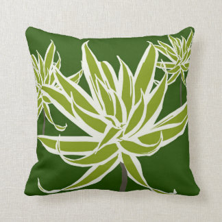 Grünes Weiß verlässt Decor#13b modernes Kissen