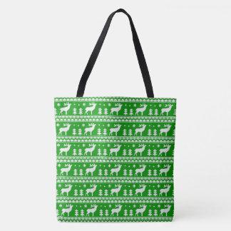 Grünes weißes angemessenes tasche