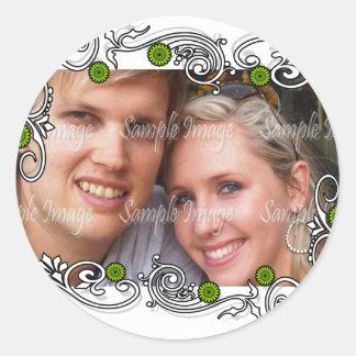 Grünes weißes Gastgeschenk Hochzeits-Siegel