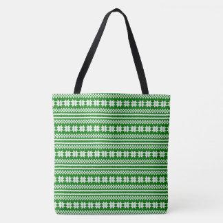 Grünes weißes norwegisches tasche