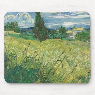 Grünes Weizen-Feld mit kundenspezifischen Mauspad
