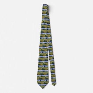 Grünes Weizen-Feld Van Gogh mit Zypresse, schöne Bedruckte Krawatten
