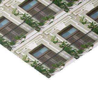 Grünes Windows von altem San Juan, Puerto Rico Seidenpapier