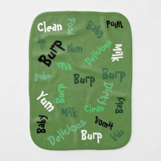 Grünes Wort-Spiel Baby Spucktuch