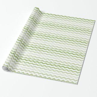 Grünes Zickzack Muster Geschenkpapier