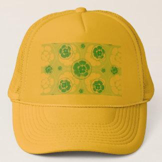 Grünes Zitronen-Muster Truckerkappe