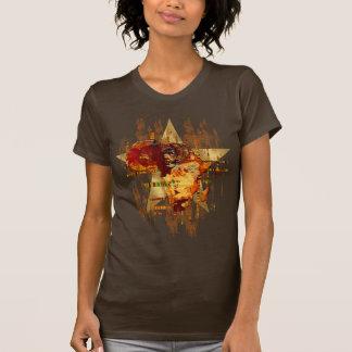 Grunge-Afrika-Stern-Gesichter von Stammes- T Shirt