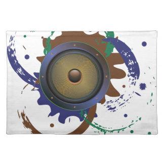 Grunge-AudioLautsprecher 3 Tischset