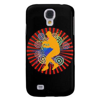 Grunge-Baseball-Spieler iPhone 3 G-Speck-Kasten Galaxy S4 Hülle
