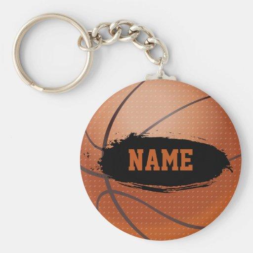 Grunge-Basketball personalisiertes Keychain Schlüsselband