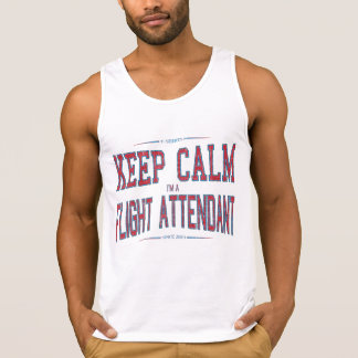 Grunge blue and red bald tank top