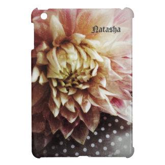 Grunge-Blume auf Polkapunkte iPad Minifall iPad Mini Hülle