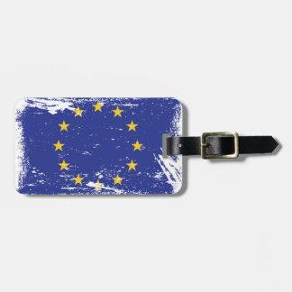 Grunge-europäische Gewerkschafts-Flagge Kofferanhänger