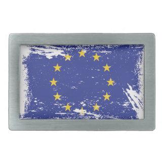Grunge-europäische Gewerkschafts-Flagge Rechteckige Gürtelschnalle